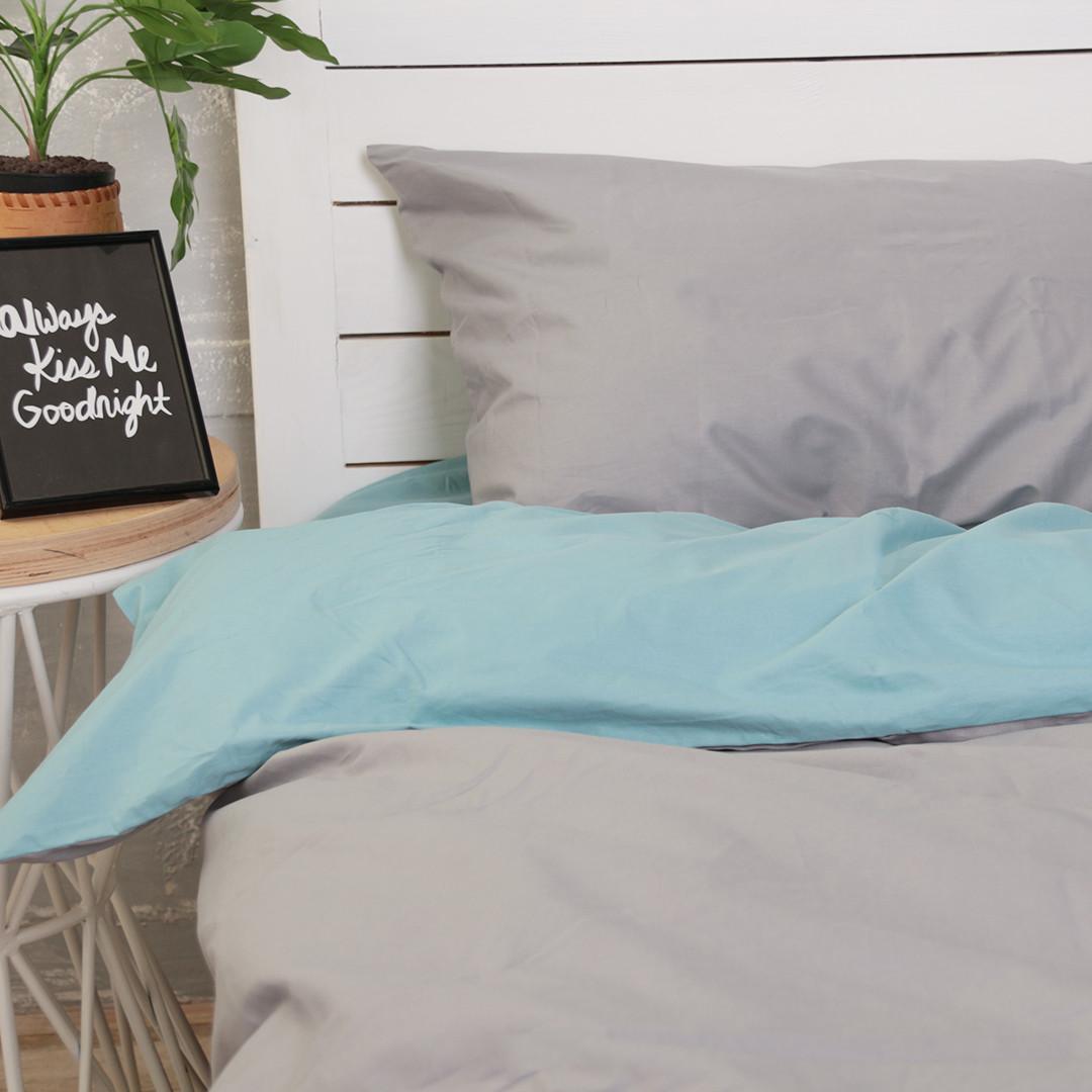 Комплект постільної білизни Натхнення Євро з Простирадлом на Резинці для Євро-подушки (PF040)