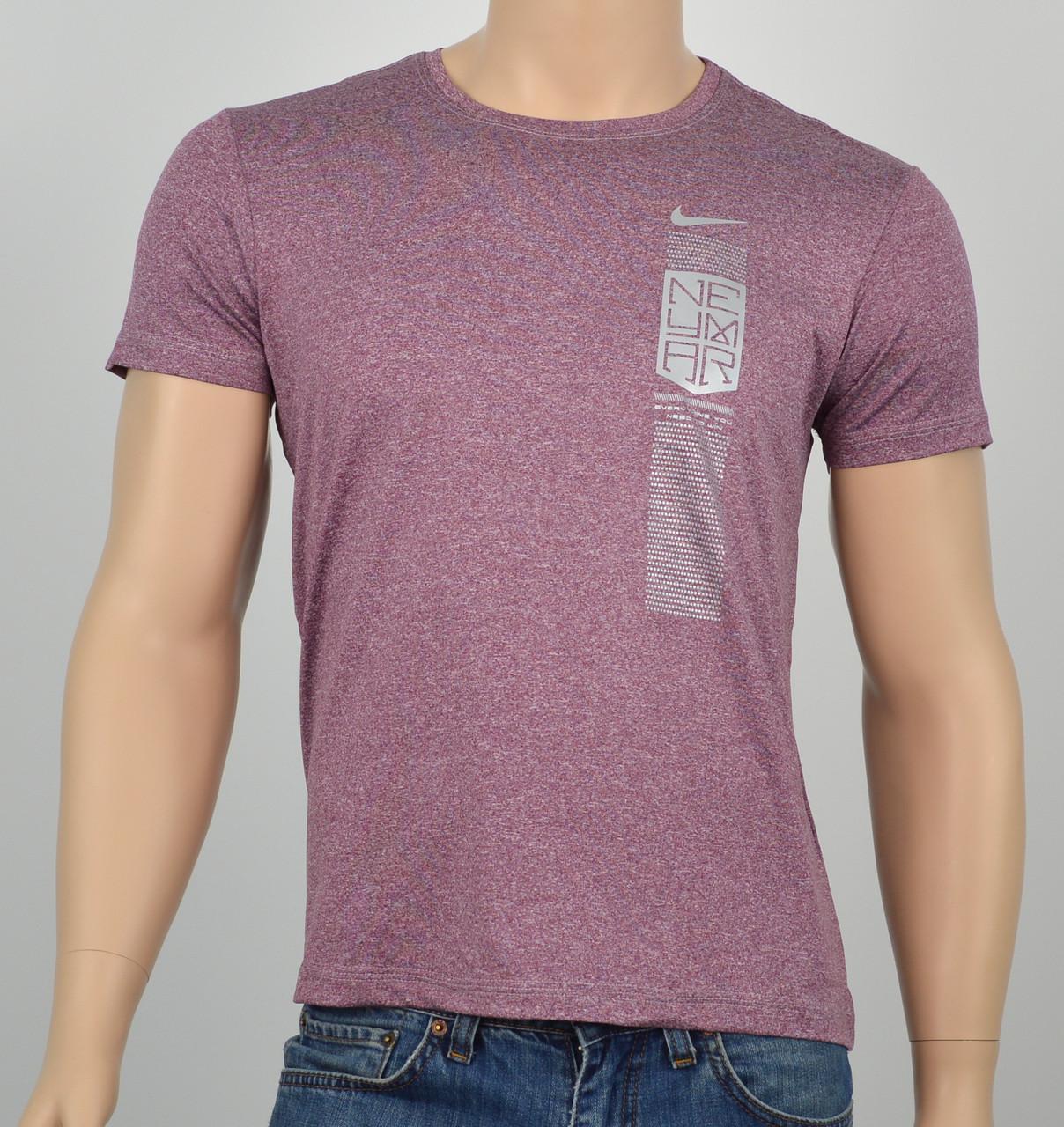 "Мужская футболка ""Вискоза"" Neymar бордо"