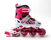 Роликовые Коньки Детские Раздвижные Power Champs Pink размер 29-33 (SD 266482573-S)