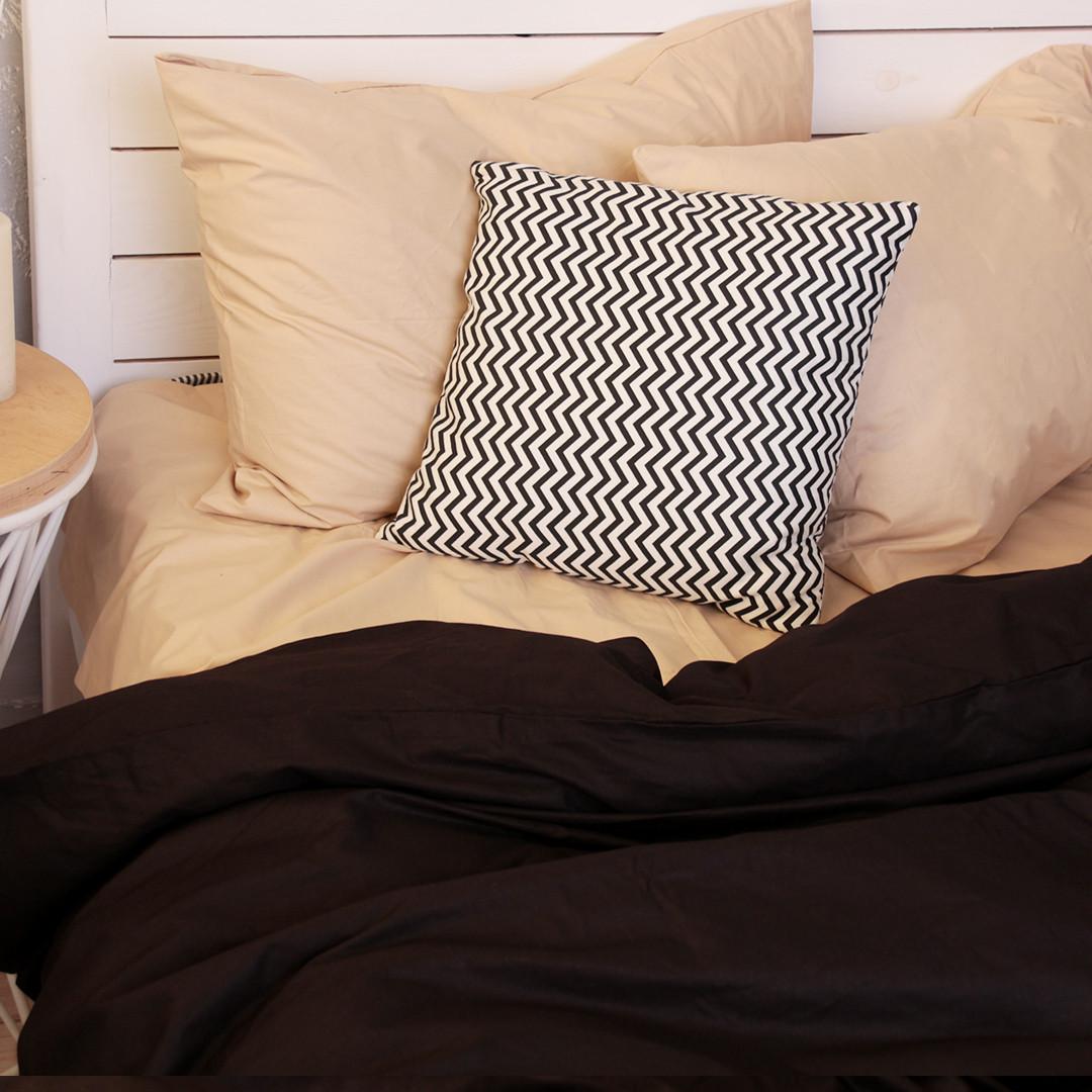 Комплект постельного белья Вдохновение Семейный с Простыней на Резинке для Евро-подушки (PF035)