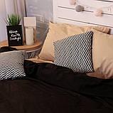 Комплект постельного белья Вдохновение Семейный с Простыней на Резинке для Евро-подушки (PF035), фото 2