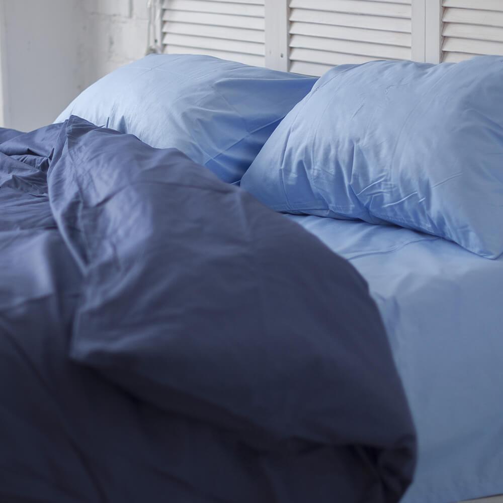 Комплект постельного белья Вдохновение Семейный с Простыней на Резинке для Евро-подушки (PF049)