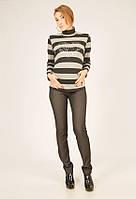Зимние джинсы для беременных 1835 черные