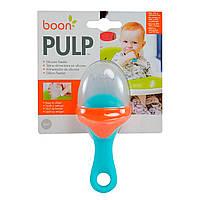 Ниблер силиконовый Boon Pulp для кормления, Синий / Оранжевый