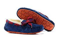 Мокасины на меху женские UGG Dakota 78 синие, женские зимние мокасины угги австралия дакота 78 синие оригинал