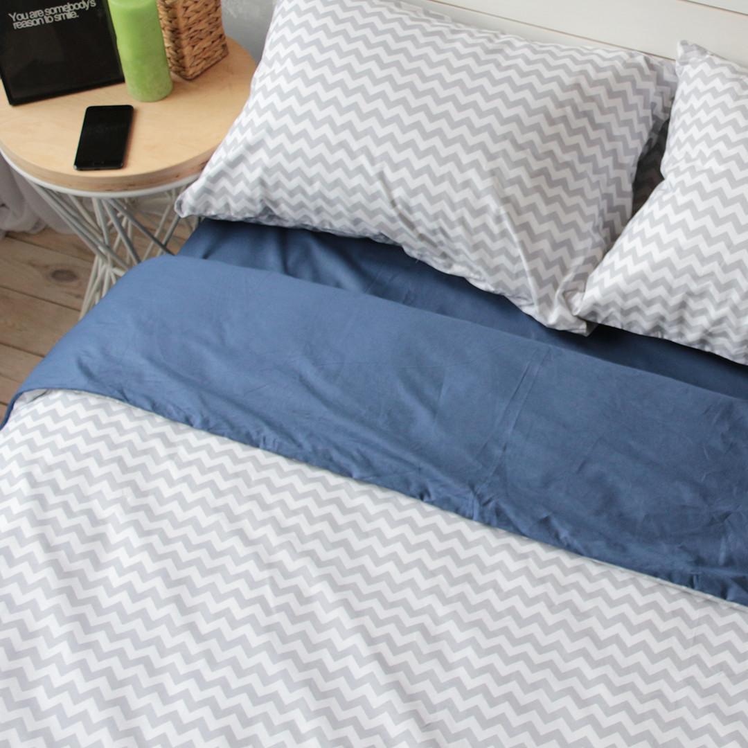 Комплект постельного белья Вдохновение 1.5-спальный с Простыней на Резинке для Евро-подушки (PF044)