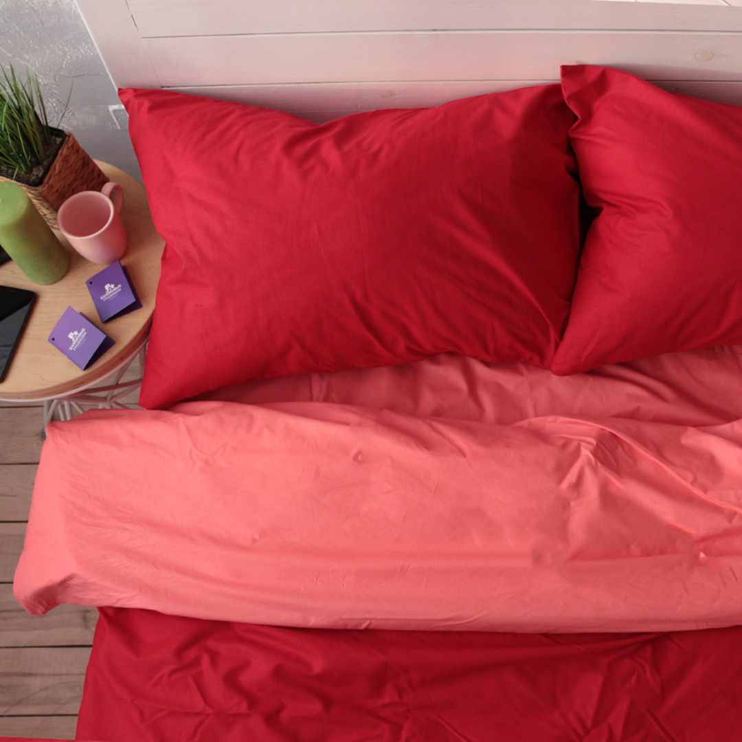 Комплект постільної білизни Натхнення 1.5-спальний з Простирадлом на Резинці для Євро-подушки (PF047)