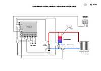 Двухконтурный нагрев. Схема монтажа системы отопления с горячим водоснабжением