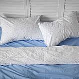 Комплект постельного белья 1.5 спальный Хлопок Люкс (PF055) с Простыней на Резинке для Стандартной подушки, фото 3