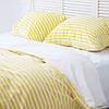 Комплект постельного белья 1.5 спальный Хлопок Люкс (PF057) с Простыней на Резинке для Евро-подушки