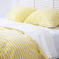Комплект постельного белья 1.5 спальный Хлопок Люкс (PF057) с Простыней на Резинке для Евро-подушки, фото 1