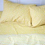 Комплект постельного белья 1.5 спальный Хлопок Люкс (PF058) с Простыней на Резинке для Евро-подушки, фото 2