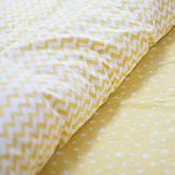 Комплект постельного белья 1.5 спальный Хлопок Люкс (PF058) с Простыней на Резинке для Евро-подушки, фото 3