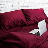 Комплект постельного белья 1.5 спальный Сатин Люкс (SE002) с Простыней на Резинке для Евро-подушки, фото 3