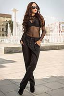 Стильные черные женские брюки от производителя, фото 1