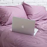 Комплект постельного белья 1.5 спальный Сатин Люкс (SE009) с Простыней на Резинке для Евро-подушки, фото 2