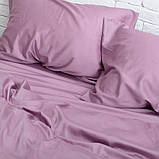 Комплект постельного белья 1.5 спальный Сатин Люкс (SE009) с Простыней на Резинке для Евро-подушки, фото 3