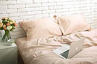 Комплект постельного белья 1.5 спальный Сатин Люкс (SE012) с Простыней на Резинке для Стандартной подушки, фото 1