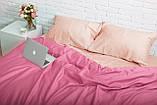 Комплект постельного белья 1.5 спальный Сатин Люкс (SE013) с Простыней на Резинке для Стандартной подушки, фото 2
