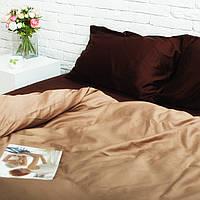 Комплект постельного белья Евро Сатин Люкс (SE005) с Простыней на Резинке для Стандартной подушки, фото 1