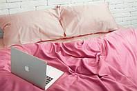 Комплект постельного белья Евро Сатин Люкс (SE013) с Простыней на Резинке для Стандартной подушки, фото 1