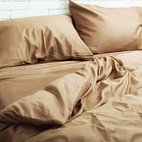 Семейный комплект постельного белья Сатин Люкс (SE003) с Простыней на Резинке для Стандартной подушки, фото 1