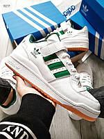 Мужские кроссовки Adidas Forum Mid White/Green, фото 1