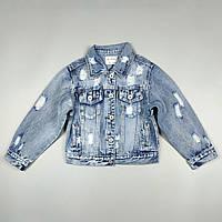 Джинсова куртка піджак для дівчинки 3356, фото 1
