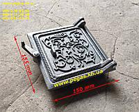 Дверка чугунная сажетруска (130х135мм) сажечистка, печи, мангал, барбекю, грубу, фото 1