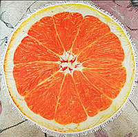 Махровое полотенце на пляж (Апельсин)