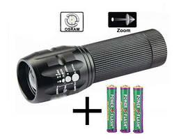 АКЦІЯ Ліхтар Police+батарейки в подарунок, велосипедний ліхтар