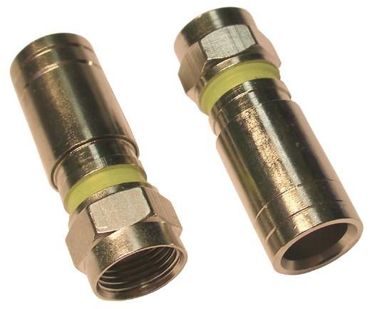 Коннектор разъем F серии компрессионный F6 Compress для кабеля RG 6 - фото 1