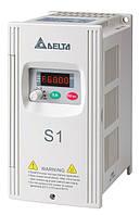Преобразователь частоты Delta Electronics, 2,2 кВт, 230В,1ф.,скалярный,VFD022S21E
