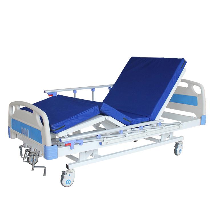 Медицинская функциональная кровать MIRID M08. Кровать с регулировкой высоты ложа. Механический привод.