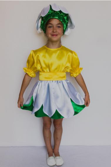 Карнавальный костюм цветка Ромашка для девочек 3-6 лет