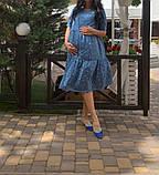 Летнее платье для беременных с секретом для кормления., фото 6