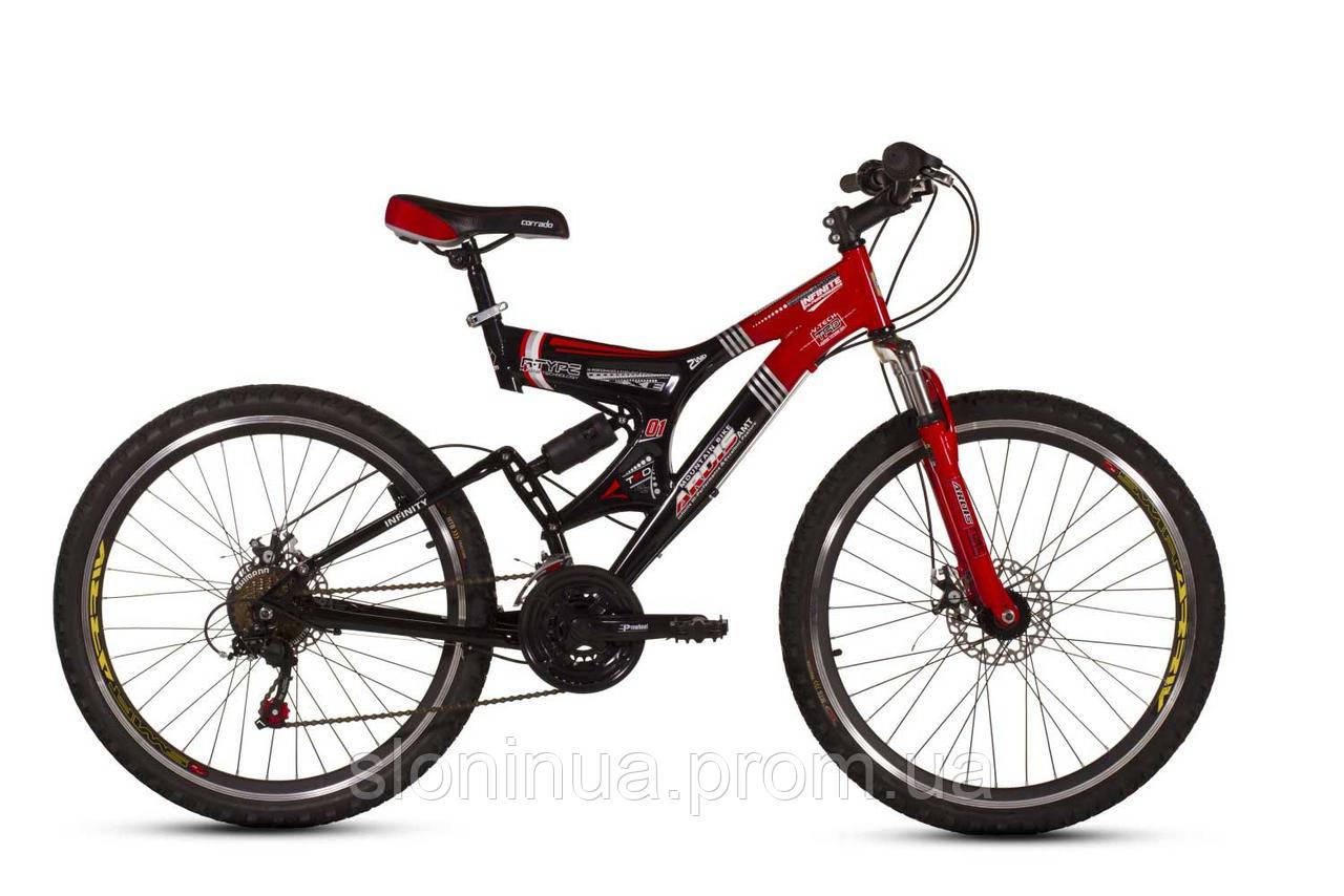"""Велосипед Ardis Infinity AMT 26"""" / рама 19"""" (черный/красный)"""