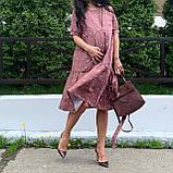 Натуральное платье для беременности и кормления., фото 7