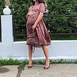 Натуральное платье для беременности и кормления., фото 8