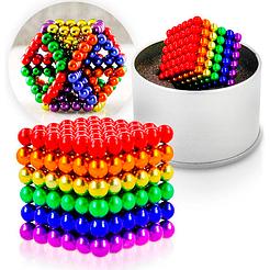 Магнитный Неокуб Радуга NEOCUBE 6 colors, цветной, 216 магнитных шариков 5 мм