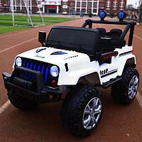 Детский электромобиль Jeep (белый цвет) с пультом дистанционного управления
