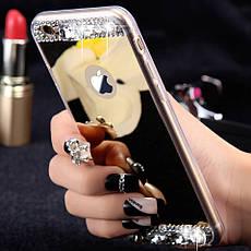 Силіконовий чохол для Apple iPhone X Silver з камінням, фото 3