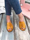 Женские замшевые шлепанцы с косточками, в расцветках, фото 5