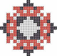 Схема на ткани для вышивания бисером Анна - имя закадированное в вышиванке КМР 7106