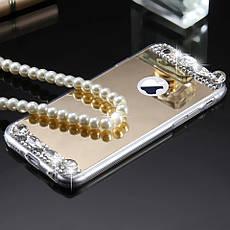 Силиконовый чехол для Apple iPhone X Gold с камнями, фото 3