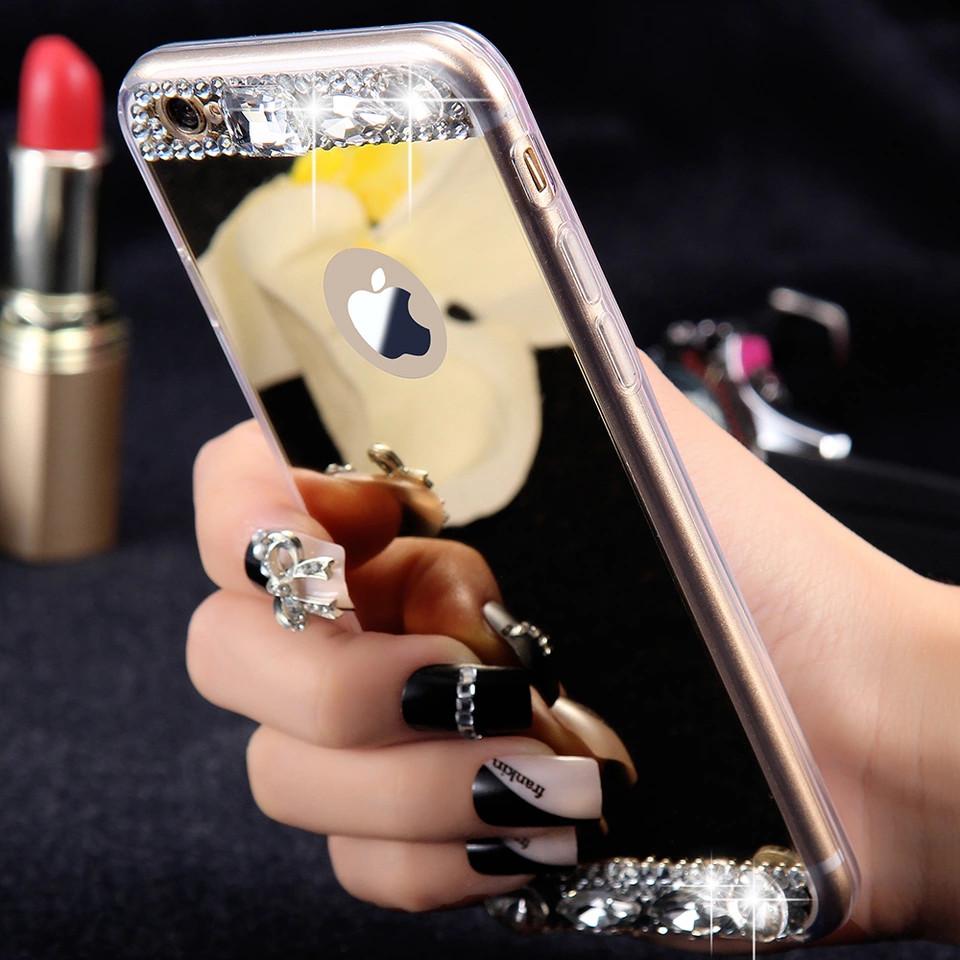 Силиконовый чехол для Apple iPhone X Gold с камнями