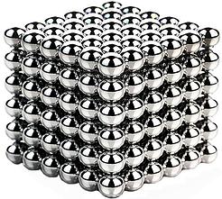 Конструктор Неокуб Головоломка Neocube 216 магнитов Silver, размер 5 мм