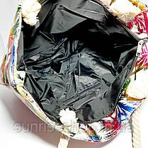 Пляжная текстильная летняя сумка для пляжа и прогулок, фото 3
