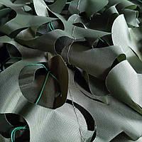 Односторонняя маскировочная сетка Camonet темно-зеленая,ткань CE, фото 1