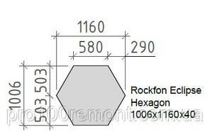 Акустический дизайнерский остров Rockfon Eclipse ШЕСТИУГОЛЬНИК 1160х40 мм, фото 3